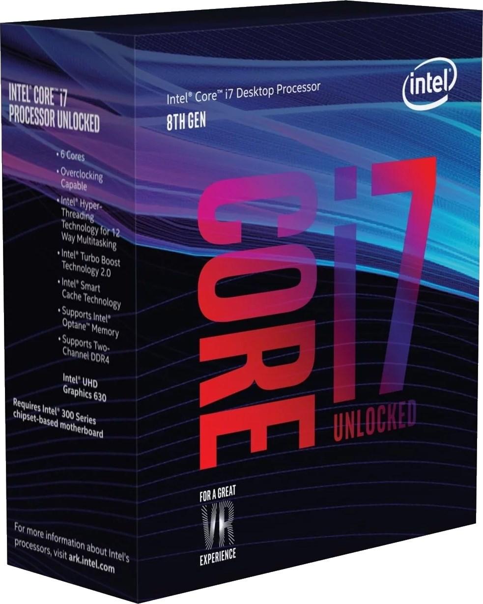 Intel Core i7 8700K 3 7GHz Hexa Core LGA1151 CPU