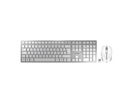 Cherry DW 9000 Slim Wireless, Bluetooth Keyboard and Mouse (Silver/White)