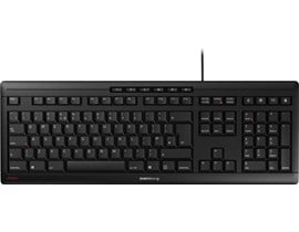 Cherry Stream USB Keyboard in Black, UK QWERTY Layout