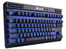 Corsair K63 Wireless Mechanical Gaming Keyboard with Blue LEDs and Cherry MX Red Switches (UK QWERTY)