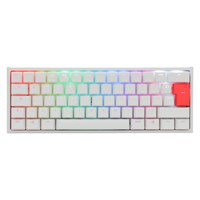 Ducky One 2 Mini RGB Mechanical Keyboard in White with Cherry MX Blue Switches, UK Layout