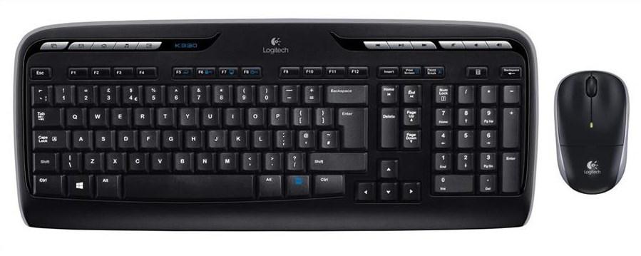 Logitech Wireless Combo MK330 Keyboard & Mouse (Black)