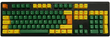 Tai-Hao ABS DoubleShot Keycaps (Golden Green) UK+US Layout