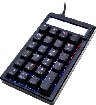 Ducky Pocket Mechanical Keyboard Calculator with Cherry MX Blue Keys