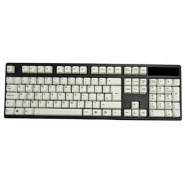 AvP ABS Double Shot UK Layout Keycaps White Black Legends