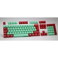 Tai-Hao Juke Box Double Shot ABS Cubic Keycap Set in Mint and Red (ISO-UK)