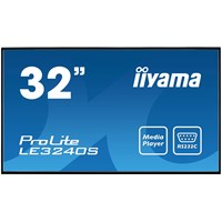 iiyama ProLite LE3240S-B2 32 inch Professional Large Format Display, VA Panel, Full HD Resolution, HDMI, DVI, Component, D-Sub inputs, Speakers