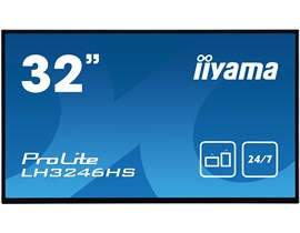 iiyama ProLite LH3246HS-B1 32 inch Professional Digital Signage Display - IPS Panel, Full HD 1920 x 1080 Resolution, 2x HDMI, DisplayPort, DVI, VGA, Speakers