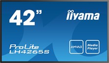 Iiyama ProLite LH4265S (42 inch) LED Backlit LCD Display 3000:1 400cd/m2 (1920x1080) 6.5ms VGA/HDMI/USB (Black)