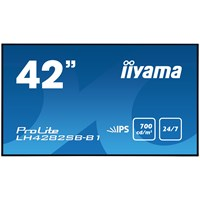 iiyama ProLite LH4282SB (42 inch) LED Backlit LCD Display 1300:1 700cd/m2 (1920x1080) 8ms VGA/DVI/HDMI/DisplayPort/USB (Black)