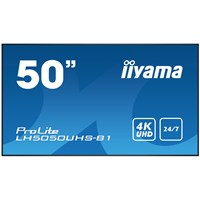 Iiyama ProLite LH5050UHS (50 inch) 4K UHD VA LED Backlit Digital Signage Display with Speakers, Component, HDMI and DisplayPort Inputs, Excludes Stand (Black)