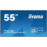 Iiyama ProLite LH5550UHS (55 inch) 4K UHD VA LED Backlit Digital Signage Display with Speakers, Component, HDMI and DisplayPort Inputs, Excludes Stand (Black)