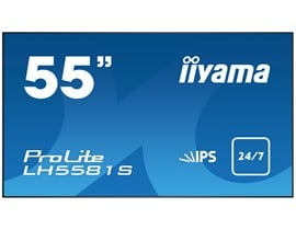 iiyama ProLite LH5581S (55 inch) LED Backlit LCD Display 1300:1 500cd/m2 (1920x1080) 8ms VGA/DVI/HDMI/DisplayPort/USB (Black)