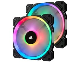 Corsair LL140 Dual Light Loop PWM Fan (140mm) RGB LED (2 Fan Pack)