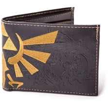 NINTENDO Legend of Zelda Bi-fold Wallet with Bird Logo (Black)