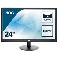 AOC M2470SWH 23.6 inch LED Monitor - Full HD, 5ms, Speakers, HDMI