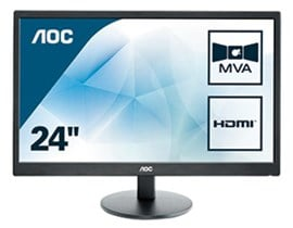 "AOC M2470SWH 23.6"" Full HD VA LED Monitor"