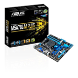 Asus M5A78L-M PLUS/USB3 Motherboard Phenom II/ Athlon II/ Sempron 100 Series Processors mATX (Integrated ATI Radeon HD 3000 GPU Graphics)