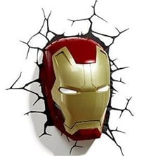 Marvel 3D Deco Wall Light - Iron Man's Helmet