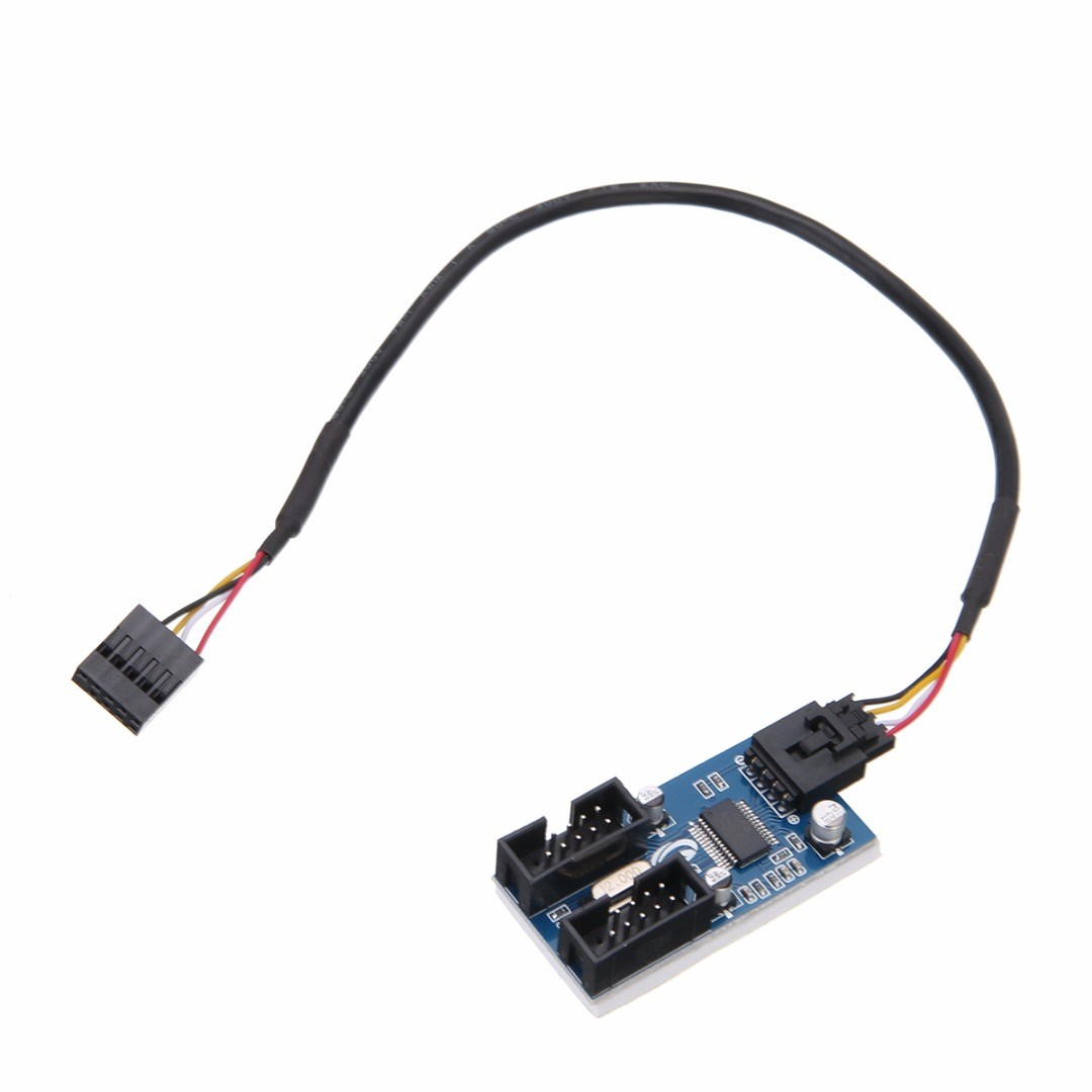 Mayitr Internal USB 2.0 Motherboard Header Splitter Cable