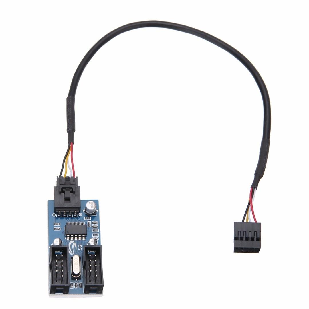 Mayitr Internal USB 2.0 Motherboard Header Splitter Cable
