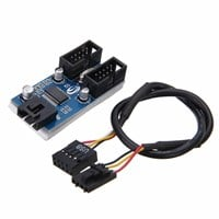 Mayitr Internal USB 2.0 Motherboard Header Splitter Cable Hub