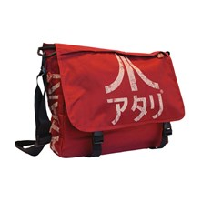 ATARI Messenger Bag with Japanese Logo (Crimson Red)
