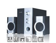 Microlab M590 Black & Silver 2.1 Speakers *Open Box*