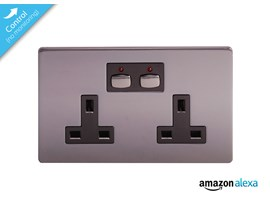 Energenie MiHome Smart Double Wall Socket (Black Nickel Plated)