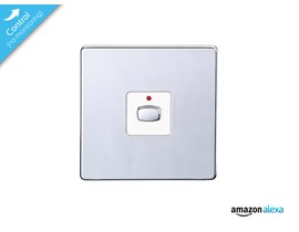 Energenie MiHome Smart Single Non-Dim Light Switch (Chrome Plated)