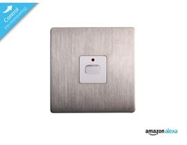Energenie MiHome Smart Single Non-Dim Light Switch (Brushed Steel)