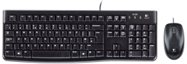 Logitech MK120 Desktop Wired USB Keyboard and Optical Mouse (Black)