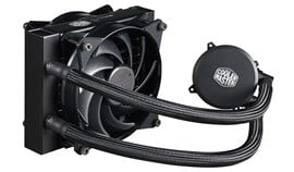 Cooler Master MasterLiquid CPU 120mm White LED Liquid Cooler and Master Fan Pro Radiator Fan