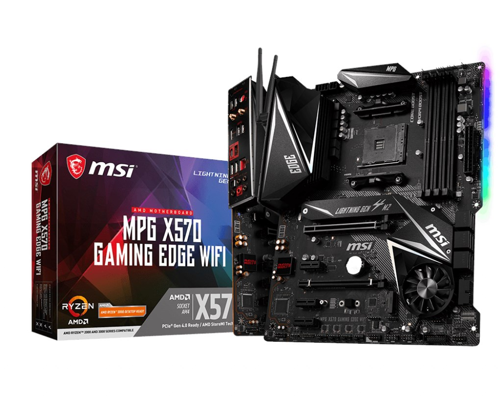 MSI MPG X570 GAMING EDGE WIFI ATX Motherboard for AMD AM4 CPUs