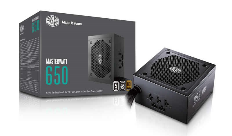 Cooler master masterwatt 650w modular power supply 80 plus bronze cooler master masterwatt 650w modular psu fandeluxe Images