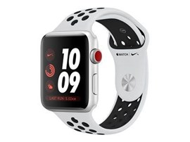 Apple Watch Series 3 (42mm) Silver Aluminium Watch Case 16GB GPS + Cellular with Pure Platinum/Black Nike Sport Band