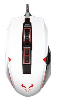 Riotoro Aurox Prism RGB Optical Gaming Mouse (White)