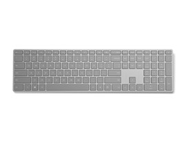 Microsoft Modern Keyboard with Fingerprint ID - USB, Bluetooth, Grey UK Layout