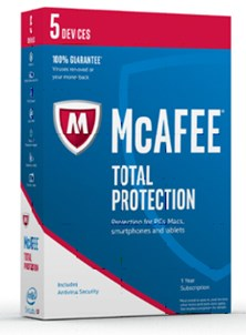 McAfee Total Protection 2017 for 5 Device