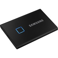 Samsung PORTABLE SSD T7 Touch 1TB USB 3.2 Gen2 External Solid State Drive in Black