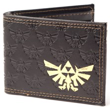 NINTENDO Men's Legend of Zelda Gold Royal Crest Bifold Wallet (Dark Brown)