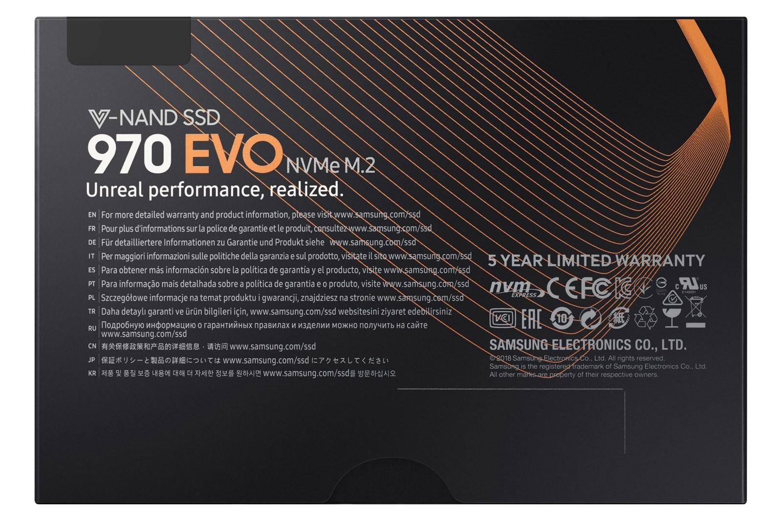 Samsung 970 Evo 1tb M 2 2280 Ssd Mz V7e1t0bw Ccl Computers