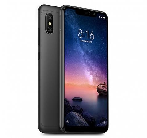 Xiaomi Redmi Note 6 Pro Smart Phone, 6.26 inch Display, 4G LTE, 4GB RAM, 64GB Storage, Android 8.1 Oreo (Black)