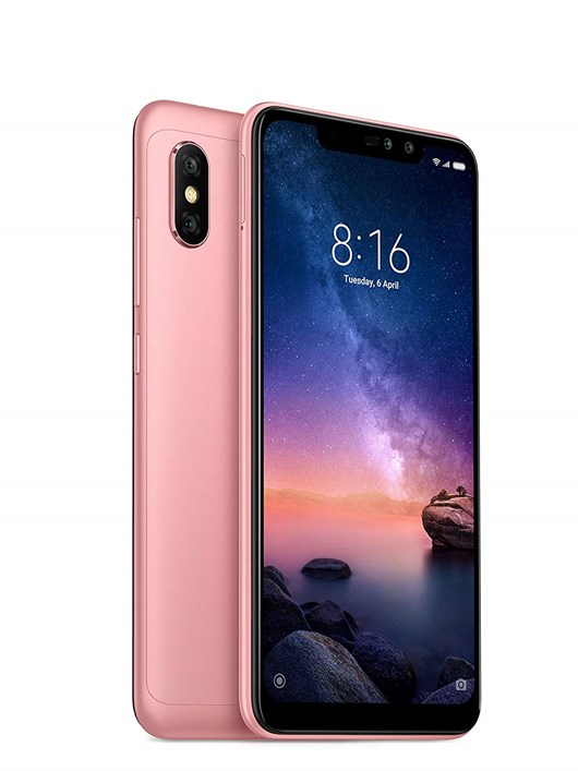 Xiaomi Redmi Note 6 Pro Smart Phone, 6.26 inch Display, 4G LTE, 4GB RAM, 64GB Storage, Android 8.1 Oreo (Rose Gold)