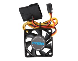 Maplin 40mm Black Chassis Fan with 3Pin+4Pin Male-Female Connector