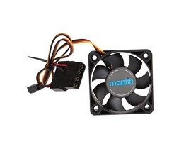 Maplin 50mm Black Chassis Fan with 3Pin+4Pin Male-Female Connector *Open Box*