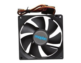 Maplin 92mm Black Chassis Fan with 3Pin+4Pin Male-Female Connector