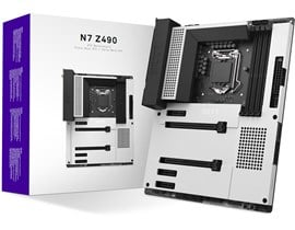 NZXT N7 Z490 Intel Socket 1200 Z490 Chipset ATX Motherboard in White *Open Box*