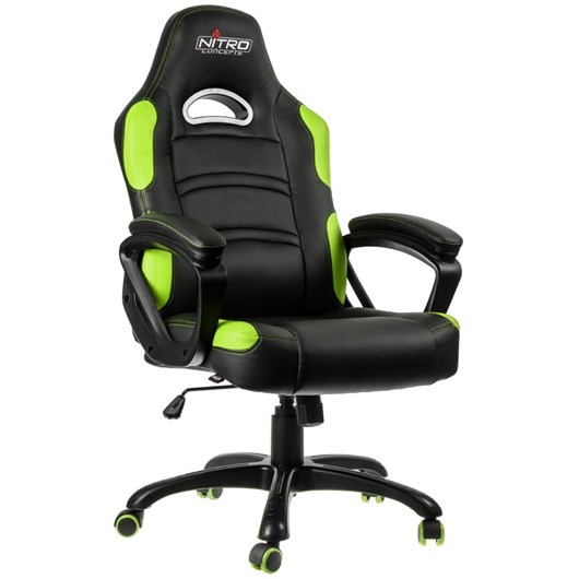 Nitro Concepts C80 Comfort Series Gaming Chair - Black/Green