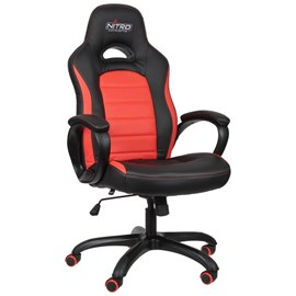 Nitro Concepts C80 Pure Series Gaming Chair - Black/Red